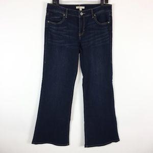 CAbi Jeans 10 Zoe Wide Flare Leg Dark Stretch